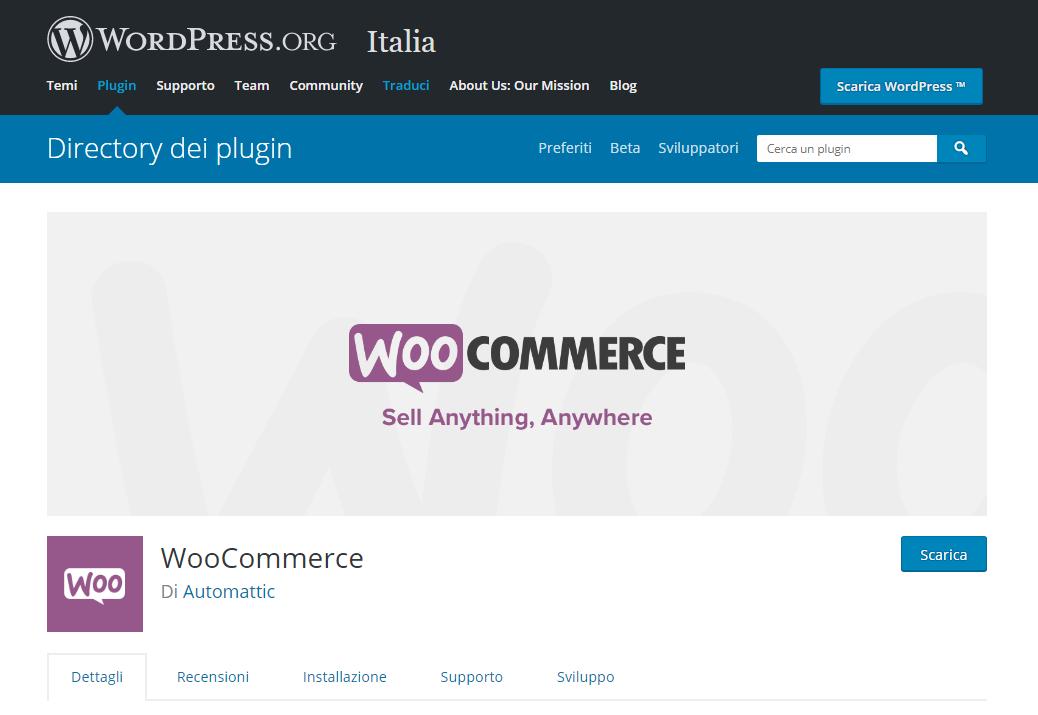 woocomerce da wordpress